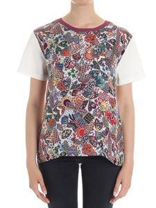 Paul Smith - White t-shirt with silk insert