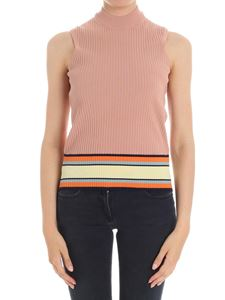 Paul Smith - Antique pink ribbed top