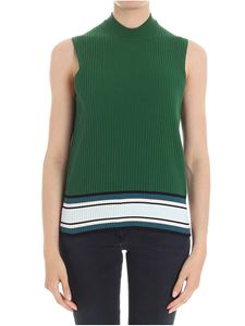 Paul Smith - Top verde a costine
