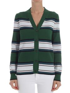 Paul Smith - Green ribbed cardigan