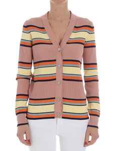 Paul Smith - Antique pink ribbed cardigan