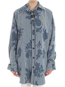 Vivienne Westwood Anglomania - Chaos chambray maxi shirt