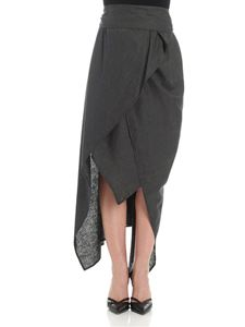 Vivienne Westwood Anglomania - Gray asymmetrical skirt