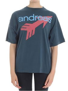 Vivienne Westwood  - Teal t-shirt with logo