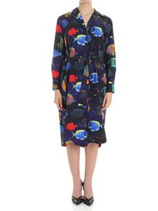 Paul Smith - Blue and black fish printed dress