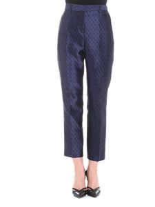 Paul Smith - Blue and black jacquard trousers
