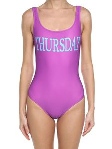 Alberta Ferretti - Lilac Thursday lycra swimsuit