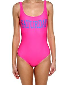 Alberta Ferretti - Fuchsia lycra Saturday swimsuit