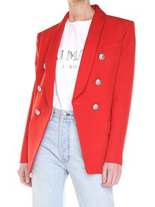 Balmain - Red double-breasted jacket