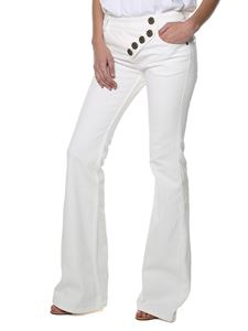 Chloé - White denim flared jeans