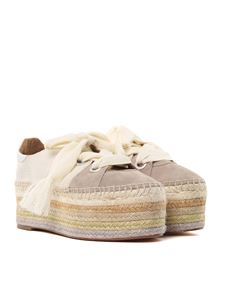 Chloé - Canvas and suede espadrilles