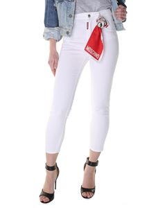 Dsquared2 - White Twiggy high-rise jeans