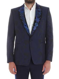 Paul Smith - Jacquard jacket with Ocean embroidery