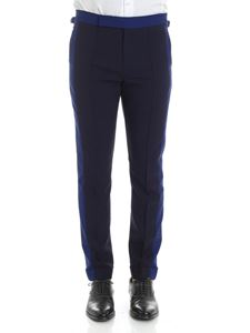Paul Smith - Cobalt and navy blue trousers