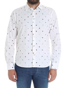 Paul Smith - White shirt with all-over prints