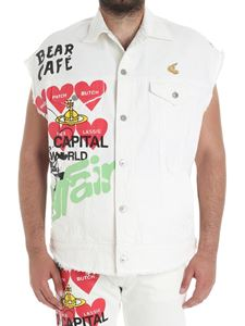 Vivienne Westwood Anglomania - Cream colored waistcoat with multicolor print
