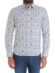 Paul Smith - Light-blue shirt with fish prints