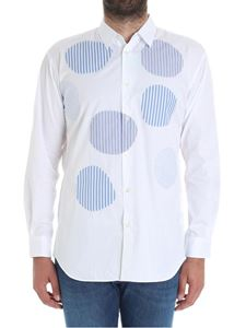 Comme Des Garçons Shirt  - White shirt with striped patches