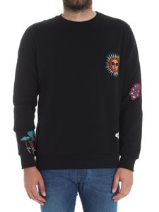 Paul Smith - Black sweatshirt with patches