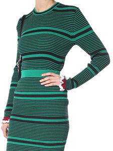 Kenzo - Green and black striped sweater