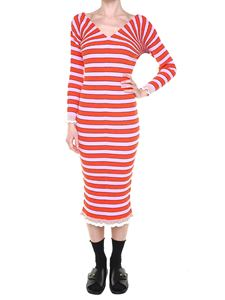 Kenzo - Knitted striped dress with ruffles