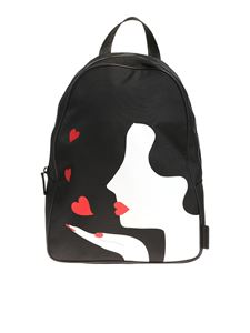 Lulu Guinness - Black Kissing Cameo backpack