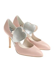 Lulu Guinness - Pink pumps with side cut-outs