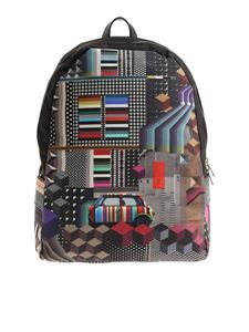 Paul Smith - Multicolor geometric printed backpack