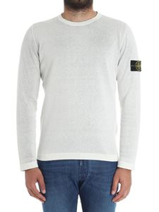 Stone Island - Reversible white and grey pullover