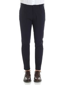 archivio jam - Black and blue Tom trousers