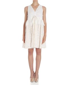 See by Chloé - White flared lace dress
