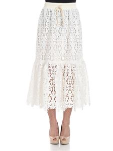 See by Chloé - Longuette cream colored broderie anglaise skirt