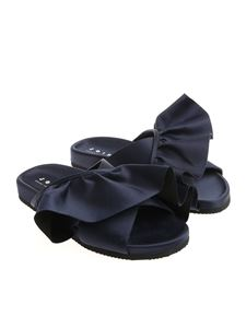 Joshua Sanders - Blue slides with ruffles
