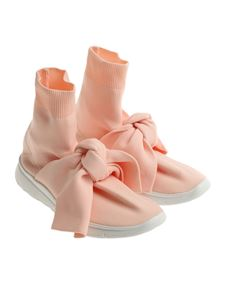 Joshua Sanders - Pink stretch knitted sneakers