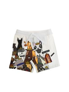 Dolce & Gabbana Jr - White bermuda with dogs print