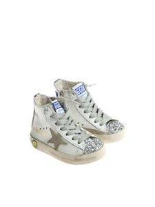 Golden Goose Deluxe Brand - White and glittery Francy sneakers