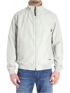 Woolrich - Ice-colored Shore Ramar bomber jacket