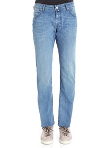 Jacob Cohën - Light-blue chambray jeans