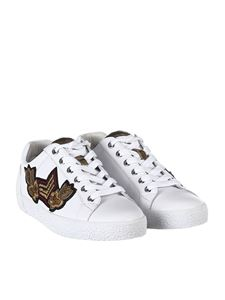 Ash - White leather sneakers with patches