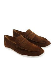 Tod's - Brown suede moccasins