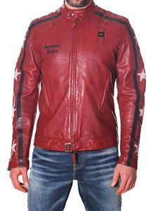 Blauer - Giacca in pelle effetto vintage rossa