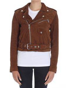 POLO Ralph Lauren - Brown suede biker jacket