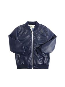 ICE ICEBERG - Blue eco-leather bomber jacket
