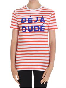 Etre Cecile - Red and white striped Deja Dude T-shirt