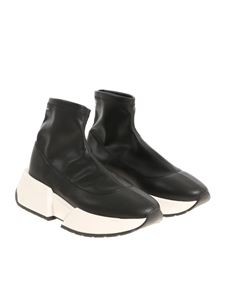 MM6 by Maison Martin Margiela - Black eco leather sneakers