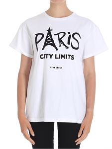 Etre Cecile - White Paris City crewneck T-shirt