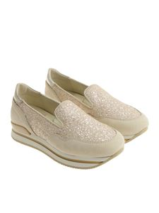 Hogan - Pink and beige H222 slip on