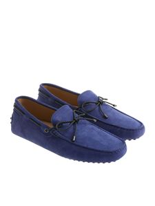 Tod's - Electric blue loafers with pebbles