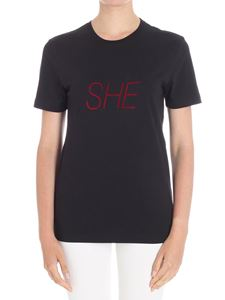 Paco Rabanne - Black She crewneck T-shirt
