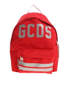 GCDS - Logo printed red backpack